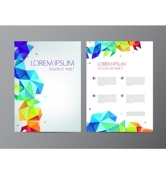 flyer colorful rainbow brochure abstract vector image