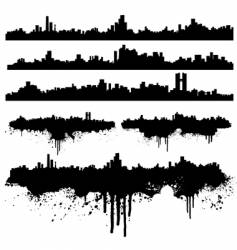 urban skylines splatter collection vector image