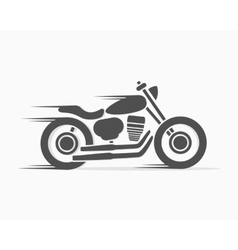 vintage motorcycle logo template vector image