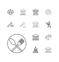 13 court icons vector