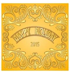 3D signboard - happy holiday vector