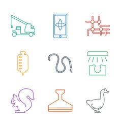 9 logo icons vector