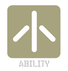 Ability conceptual graphic icon vector