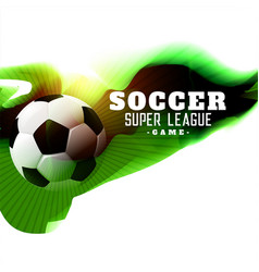 abstract soccer league game background vector image
