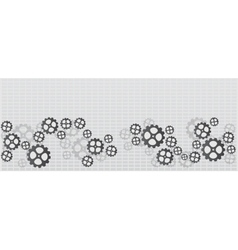 Banner with gears vector