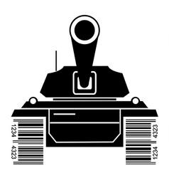Bar code batlle tank vector