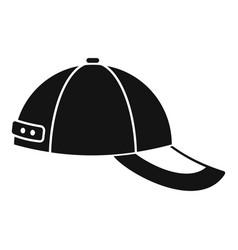 baseball cap icon simple style vector image