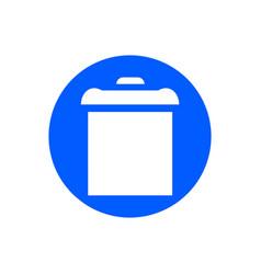 bin glyph icon vector image