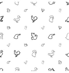 bird icons pattern seamless white background vector image