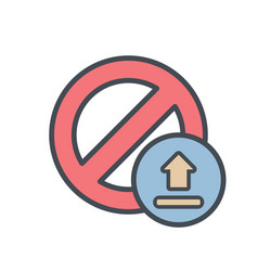 block cancel lock stop upload icon vector image