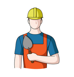 builder masonprofessions single icon in cartoon vector image