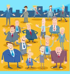 businessmen or men cartoon characters crowd vector image