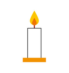 Candle christmas isolated icon vector