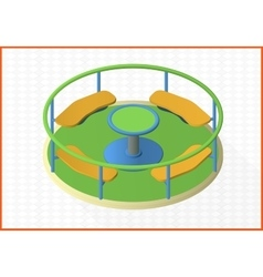 Carousel isometric perspective view flat vector