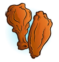 Chicken wings cartoon vector