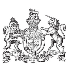 Coat of arms great britain and ireland vintage vector