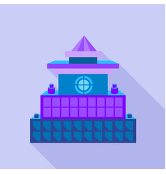Colorful palace icon flat style vector
