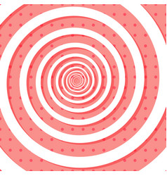 Colorful retro style spiral backround with polka vector
