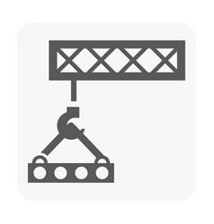 construction icon black vector image