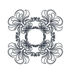Crest vintage decoration swirls emblem vector