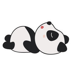 Cute sleeping panda on white background vector