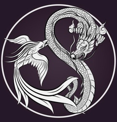 Dragon Tattoo Drawing vector