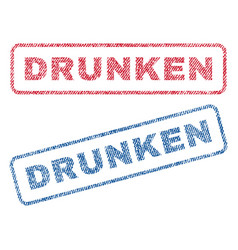 Drunken textile stamps vector