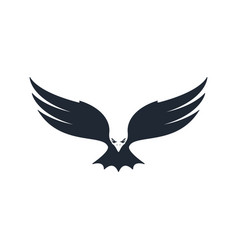 eagle hunting negative space vector image