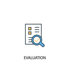 Evaluation concept 2 colored line icon simple vector