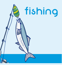 fishing water sport concept vector image