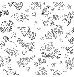 floral seamless pattern lovely and funny vector image