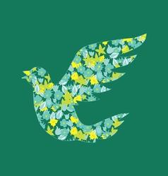 flower bird vector image
