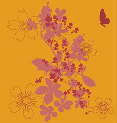 flowers fashion print vector image
