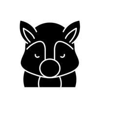 funny squirrel black icon sign on isolated vector image