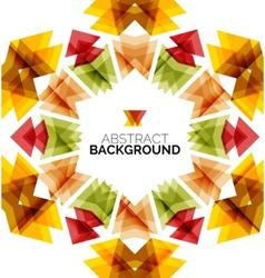 Geometric design flower vector image