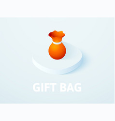 gift bag isometric icon isolated on color vector image