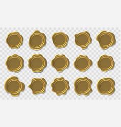 golden seal envelope retro post stamp premium vector image