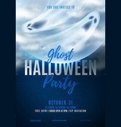 Halloween party poster invitation vector