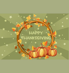 happy thanksgiving cards orange vector image