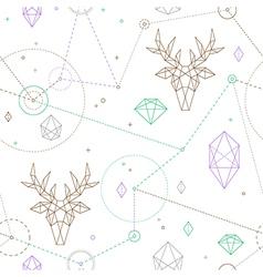 Hipster deer pattern vector