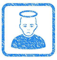 holy man framed stamp vector image