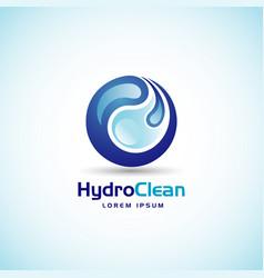 hydro clean logo sign symbol icon vector image