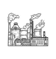 Industrial factory sketch vector