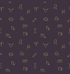 line art zodiac symbols in simple vector image