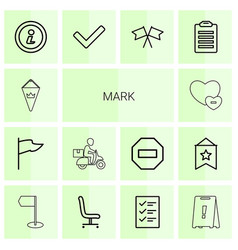 mark icons vector image
