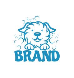 modern dog and pet washing logo vector image