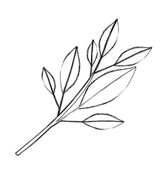 Monochrome blurred silhouette of tree branch with vector