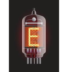 Nixie tube indicator vector image