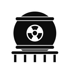 nuclear energy icon simple style vector image