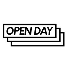 open day stamp on white vector image